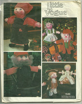 "Vintage Little Vogue Pattern 1546 Soft 16"" Doll & Clothing Christmas, Ju... - $12.73"