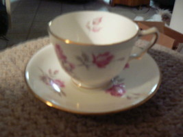 Crown Staffordshire English Rose cup and saucer 8 available - $9.85