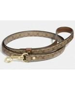 COACH New Small Collar Leash Brown Tan Khaki Signature Dog Cat Puppy Pet... - $59.99