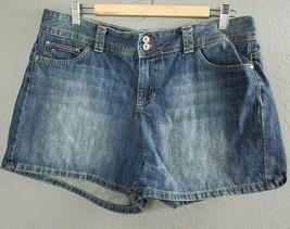 Tommy Hilfiger Jeans Shorts Sz 14 Womens Denim Blue 100% Cotton - $29.99