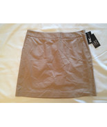 "INC International Concepts 16"" A-line Stretch Skirt Khaki Size 4 - $12.00"
