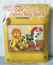 "Vintage 1979 Childhood Friends Needlepoint Kit by Sunset - Fits 14"" x 18... - $37.95"