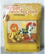 "Vintage 1979 Childhood Friends Needlepoint Kit by Sunset - Fits 14"" x 18... - $37.95"