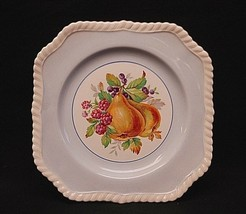 """California by Johnson Brothers 7-3/4"""" Square Salad Plate Blue Fruit England - $17.81"""