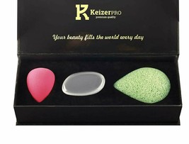 KeizerPro Professional Makeup Sponge Set  3 in 1 Konjac Sponge Silicone ... - $9.70