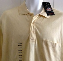 Izod Polo Shirt Buttercream Short Sleeve Size Medium NEW - $34.60