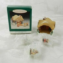 Hallmark Christmas Ornament A Moustershire Christmas 4 Pc Set Cottage Mi... - $14.84