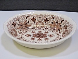 "Masons Ironstone Bow Bells 9.5""x7.5"" Vegetable Serving Bowl Brown Transf... - $23.76"