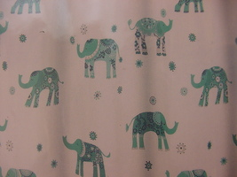 Cynthia Rowley Decorated Elephant Turquoise/Aqua Shower Curtain - $32.00