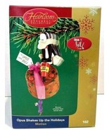 Carlton Cards Opus n' Bill  Opus Shakes Up The Holidays Motion Ornament - $34.99