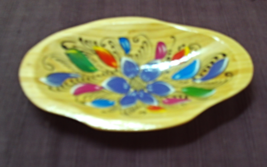 Small Hand Carved Hand Painted Vintage Wood Decorative Bowl Candy Dish F... - $9.80
