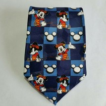 DISNEY MICKEY UNLIMITED Tie Mickey Mouse Golfing Neck Tie Blue White Red... - $14.36