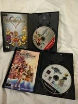 COMPLETE Kingdom Hearts 1 & 2 Game Set Lot Playstation 2 PS2 Tested Black Label - $14.89