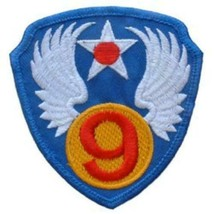 9th Air Force Embroidered Shoulder Patch, WWII  PAT-0104 - $6.91