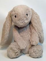 """JellyCat Bashful Beige Bunny Rabbit Stuffed Plush Tan Floppy Ears 12"""" - $29.99"""