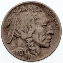 1920-D 5C Buffalo Nickel VF Condition, Just Misses XF, Full Horn, Toning - $133.64