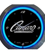 Chevrolet Camaro Logo New Neon Clock Pair 15 Inch Set 2 Man Cave Office ... - $137.60