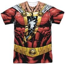 Authentic DC Captain Marvel Shazam Uniform Costume Outfit Allover FRONT ... - £14.34 GBP+