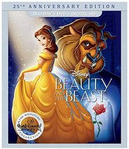 Disney Beauty and the Beast: 25th Anniversary Edition (Blu-Ray + DVD + Digital)