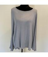NEW - Lauren Conrad gray raw hem bell sleeve XL - $18.42