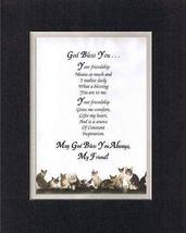 Touching and Heartfelt Poem for Special Friends - God Bless You Poem on 11 x 14  - $15.79