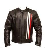 QASTAN Men's New Latest Brown Motorbike CE Protectors Leather Jacket QMMJ22 - $159.20+
