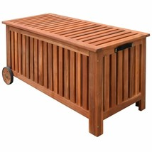 vidaXL Cushion Box Outdoor Storage Bench Garden Wooden Patio Pillow Storage - $194.99
