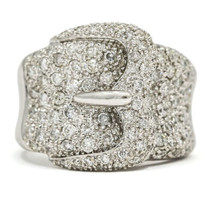 LeVian Diamond Buckle Ring in 18K White Gold - $2,750.00