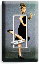 AUDREY HEPBURN BREAKFAST AT TIFFANY'S CIGARETTE 1 GFCI LIGHT SWITCH PLAT... - $10.99