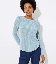 LOFT Marled Ribbed Shirttail Sweater Blue Multi New - $29.99