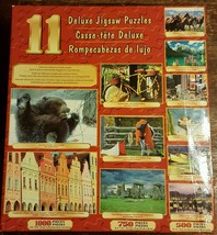 11 Deluxe Jigsaw Puzzle 7250 Pieces  Grizzly Stonehedge Horses Bike Love... - $12.59