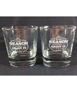 Jack Daniels Drinking Glasses Season Enjoy It Old Fashion Low Ball 8 Oz 2 - $18.49