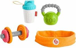 Fisher-Price Baby Biceps Gift Set, 4 fitness-themed baby toys with weara... - $27.80