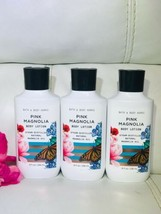 3 New Bath Body Works Pink Magnolia Body Lotion Steam Distilled Natural ... - $48.41