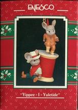 1990 New in Box - Enesco Christmas Ornament - Yippee-I-Yuletide - #564982 - $7.91