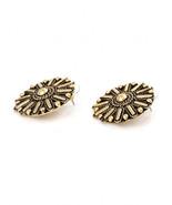 Vanessa Mooney Gold Rocker Stud Earrings NEW - $71.28