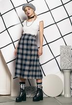 Wool kilt - 80s vintage tartan skirt - $40.13
