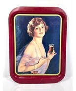 1974 Limited Canadian Edition Coca Cola 1927 Calendar Girl Tin Metal Tray - $28.45