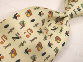 R M N  COLLECTION Signs of the CULTURE  Mens 100 SILK Necktie  8 912 - $19.99