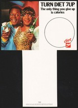 Vintage carton stuffer DIET 7 UP dated 1981 Flip Wilson and Geraldine n-... - $6.99