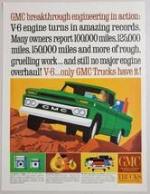 1964 Print Ad GMC Pickup Trucks with V-6 Engines General Motors Corporation - $10.87