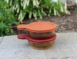 (2) Corning Vision V-150-B Amber Glass Microwave & Oven Grab It Bowls & Lids - $34.99