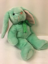 Ty Beanie Buddies Hippity Rabbit Plush Pastel Green Easter Bunny Stuffed... - $9.19