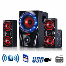 Speaker Sound System 2.1 Channel Multimedia Entertainment Bluetooth Spea... - $92.92