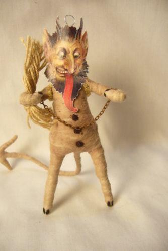 Vintage inspired Spun Cotton  Christmas Krampus no.5