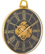Wall Clock PATRON Polished Gold Glass Aluminum Brass - $499.00