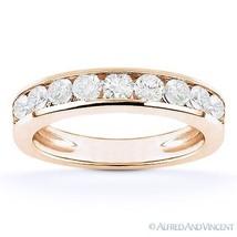 Forever ONE D-E-F Round Cut Moissanite 14k Rose Gold Anniversary / Weddi... - €797,39 EUR