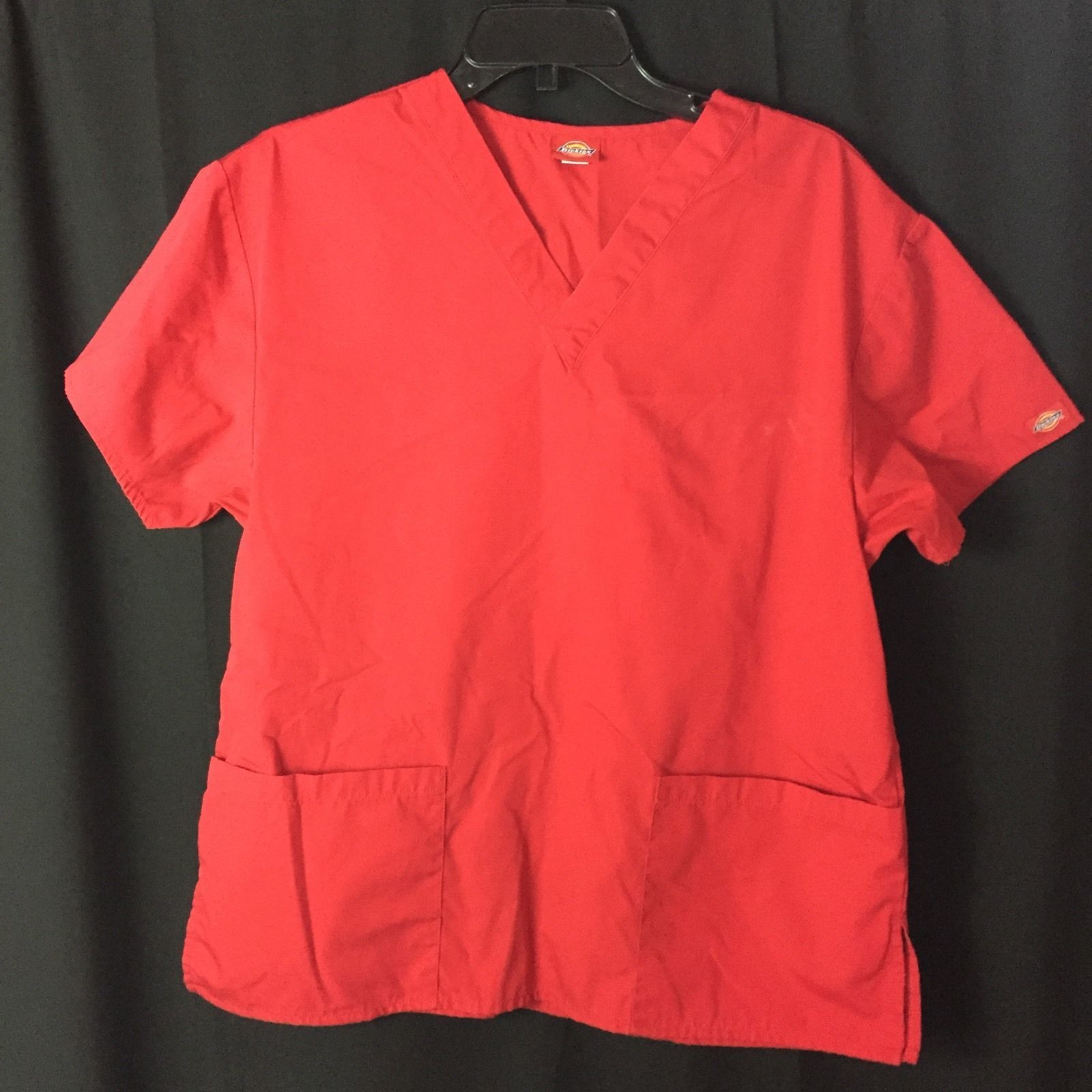 Primary image for Unisex Dickies Solid Red Scrub Top *No Tag*