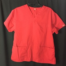 Unisex Dickies Solid Red Scrub Top *No Tag* - $8.96