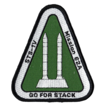 """4"""" SP-393J NASA GO FOR STACK STS-1V EMBROIDERED PATCH - $23.74"""